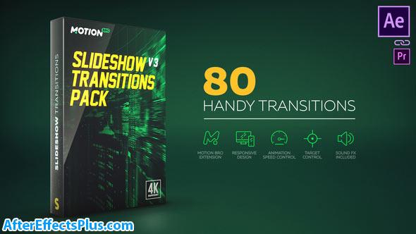 پروژه افتر افکت پکیج ترانزیشن اسلایدشو - Slideshow Transitions Pack v4