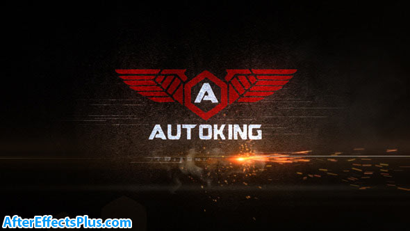 پروژه افتر افکت نمایش لوگو سریع با افکت جرقه آتش - Speed Logo Reveal