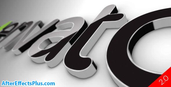 پروژه افتر افکت لوگو سه بعدی سیاه - Black Classic 3D Logo