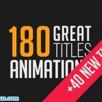 پروژه 180 متن انیمیشنی افتر افکت – Videohive 180 Great Title Animations