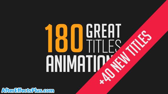 پروژه 180 متن انیمیشنی افتر افکت - Videohive 180 Great Title Animations