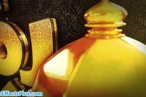 پروژه افتر افکت اینترو سه بعدی ماه رمضان با افکت طلایی – Videohive Ramadan Goldish Opener