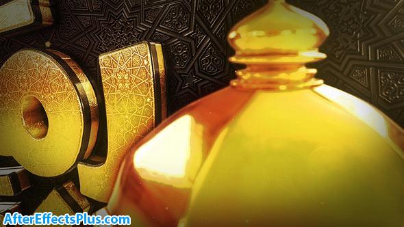 پروژه افتر افکت اینترو طلایی ماه رمضان - Videohive Ramadan Goldish Opener