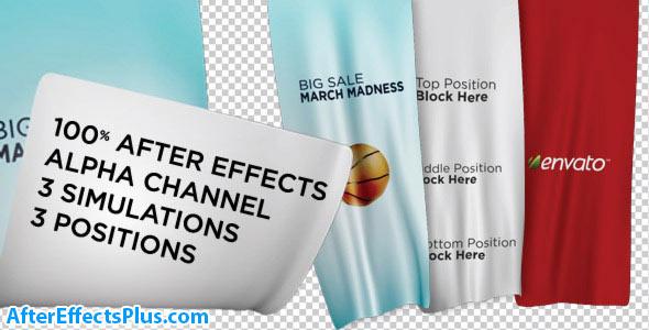 پروژه افتر افکت بنر تبلیغاتی تا شده و موج دار - Videohive Unfolding Banners