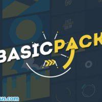 پروژه افتر افکت پکیج متن و ترانزیشن موشن گرافیک – Videohive Basic Pack