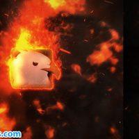 پروژه افتر افکت نمایش لوگو با افکت آتش و انفجار – Videohive Exploding Burning Logo Reveal