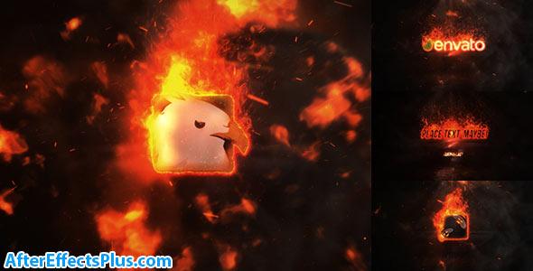 پروژه افتر افکت نمایش لوگو با افکت آتش و انفجار - Videohive Exploding Burning Logo Reveal