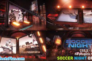 پروژه افتر افکت اینترو فوتبال شبانه – Videohive Soccer Night Opener