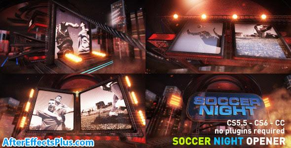 پروژه افتر افکت اینترو فوتبال شبانه - Videohive Soccer Night Opener