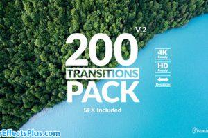 پروژه افتر افکت 200 ترانزیشن کاربردی – Transitions Pack