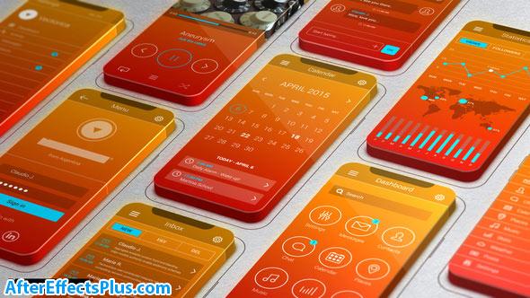 پروژه افتر افکت تیزر اپلیکیشن موبایل با صفحه نمایش سه بعدی - Videohive 3D Screens App Promo