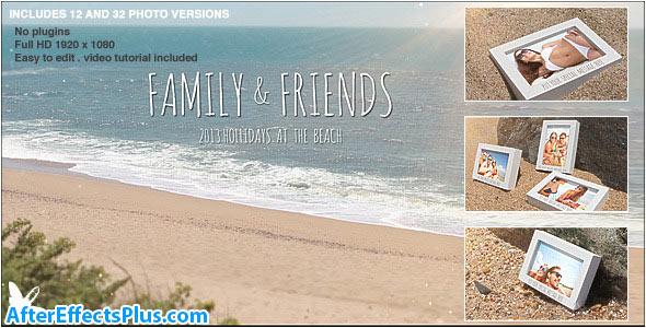 پروژه افتر افکت اسلایدشو گالری عکس در ساحل - Videohive Beach Photo Slide