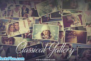 پروژه افتر افکت گالری عکس کلاسیک چند منظوره – Classical Gallery