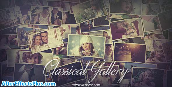 پروژه افتر افکت گالری عکس کلاسیک چند منظوره - Classical Gallery