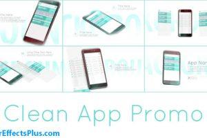 پروژه افتر افکت تبلیغ اپلیکیشن موبایل – Clean App Promo