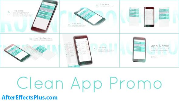 پروژه افتر افکت تبلیغ اپلیکیشن موبایل - Clean App Promo