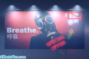 پروژه افتر افکت بیلبورد تبلیغاتی – Cyberpunk Billboard