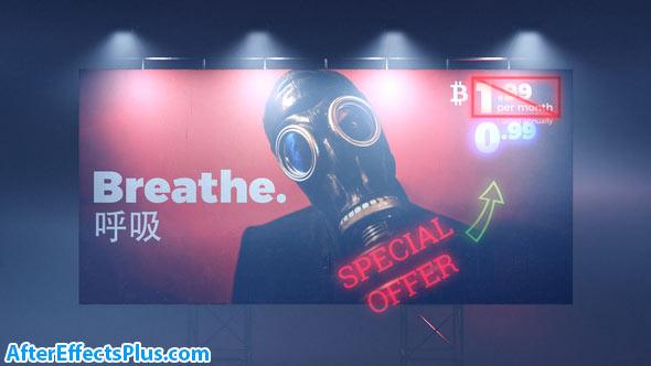 پروژه افتر افکت بیلبورد - Cyberpunk Billboard