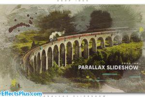 پروژه افتر افکت اسلایدشو با افکت قطره جوهر – Drop Ink Parallax Slideshow