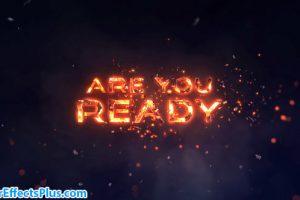 پروژه افتر افکت متن آتشی حماسی – Epic Fire Titles