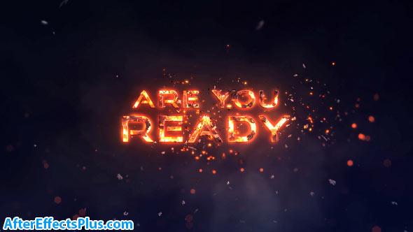 پروژه افتر افکت متن آتشی حماسی - Videohive Epic Fire Titles