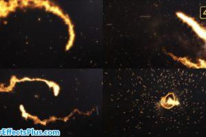 پروژه افتر افکت نمایش لوگو با افکت آتش – Videohive Fire Logo Cinematic