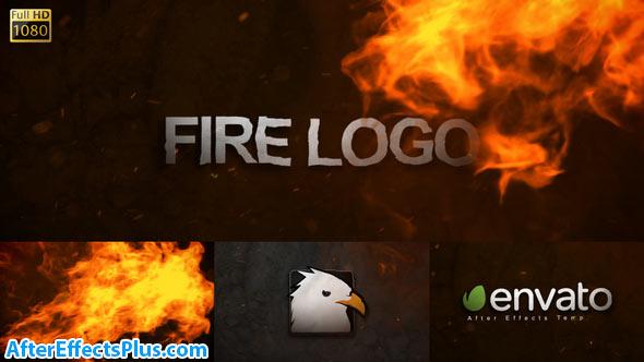پروژه افتر افکت لوگو با افکت آتش - Videohive Fire Logo