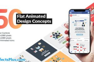 پروژه افتر افکت طرح های مفهومی فلت برای موشن گرافیک – Flat Animated Design Concepts