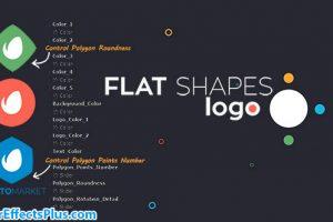 پروژه افتر افکت نمایش لوگو فلت با اشکال هندسی – Flat Shapes Logo