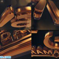 پروژه افتر افکت نمایش لوگو طلایی – Gold Logo Reveal