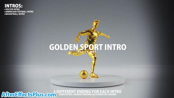 پروژه افتر افکت اینترو کاپ طلایی فوتبال و بسکتبال - Golden Sport Intro