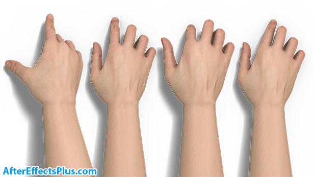 حرکات دست انیمیشنی