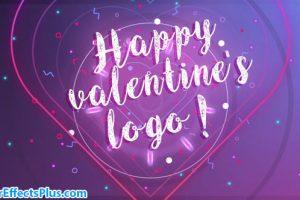 پروژه افتر افکت نمایش لوگو برای تبریک ولنتاین و جشن تولد – Happy Valentine logo