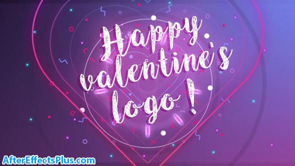 پروژه افتر افکت نمایش لوگو برای تبریک ولنتاین و جشن تولد - Happy Valentine logo