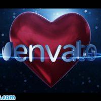 پروژه افتر افکت نمایش لوگو قلب سه بعدی – Heart Logo
