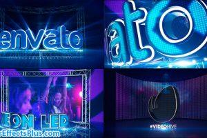 پروژه افتر افکت صفحه LED نئون و تابلو روان – Videohive LED Neon Screen
