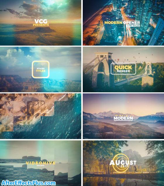 پروژه افتر افکت اسلایدشو مدرن چند منظوره به همراه متن - Videohive Modern Opener With Titles