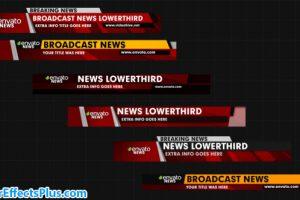 پروژه افتر افکت زیرنویس اخبار – News Lower Thirds