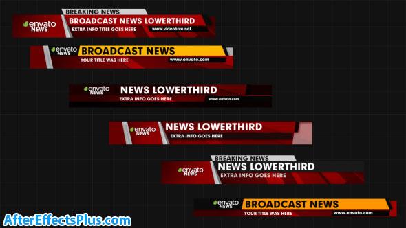 پروژه افتر افکت زیرنویس اخبار - News Lower Thirds