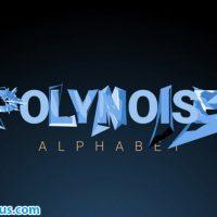 پروژه افتر افکت حروف الفبای متحرک و چند ضلعی – PolyNoise Alphabet Animated Typeface