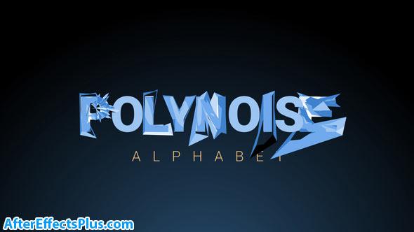 پروژه افتر افکت حروف الفبای متحرک و چند ضلعی - PolyNoise Alphabet Animated Typeface