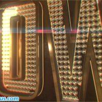پروژه افتر افکت نمایش لوگو و متن سه بعدی با لامپ های کوچک – Showbiz Logo