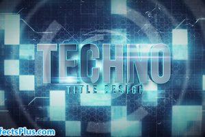 پروژه افتر افکت نمایش متن و لوگو چند منظوره با موضوع تکنولوژی – Techno Title