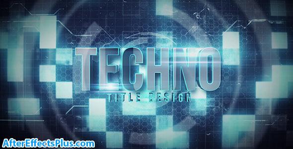 پروژه افتر افکت نمایش متن و لوگو تکنولوژی چند منظوره - Techno Title