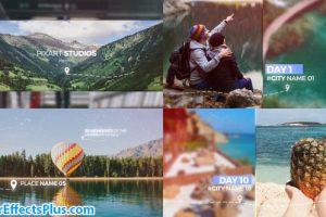 پروژه افتر افکت اسلایدشو چند منظوره خاطرات سفر – Travel Memories Slideshow