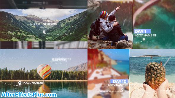 پروژه افتر افکت اسلایدشو چند منظوره خاطرات سفر - Videohive Travel Memories Slideshow