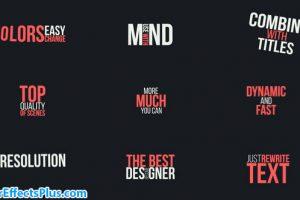 پروژه افتر افکت پکیج متن تایپوگرافی – Typography Titles Pack