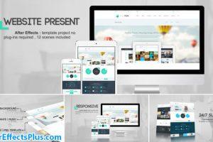 پروژه افتر افکت تیزر معرفی سایت – Videohive Website Presentation