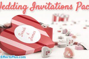 پروژه افتر افکت عاشقانه برای دعوت نامه عروسی و ولنتاین – Wedding Invitations Pack