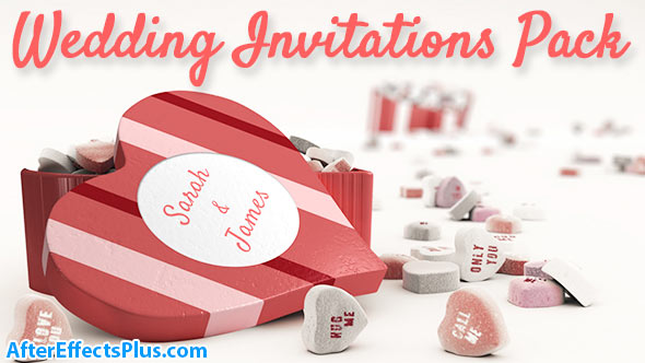 پروژه افتر افکت دعوت نامه عروسی و ولنتاین - Videohive Wedding Invitations Pack